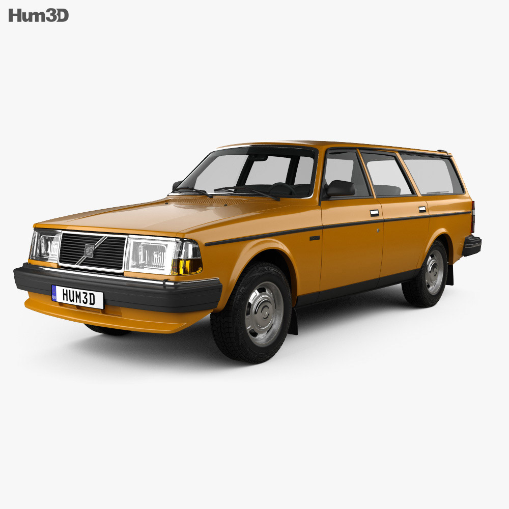 Volvo 245 wagon 1979 3d model