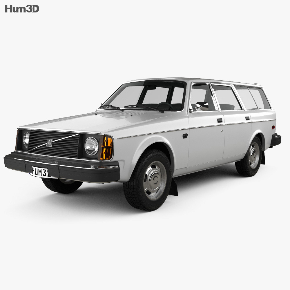 Volvo 245 wagon 1975 3d model