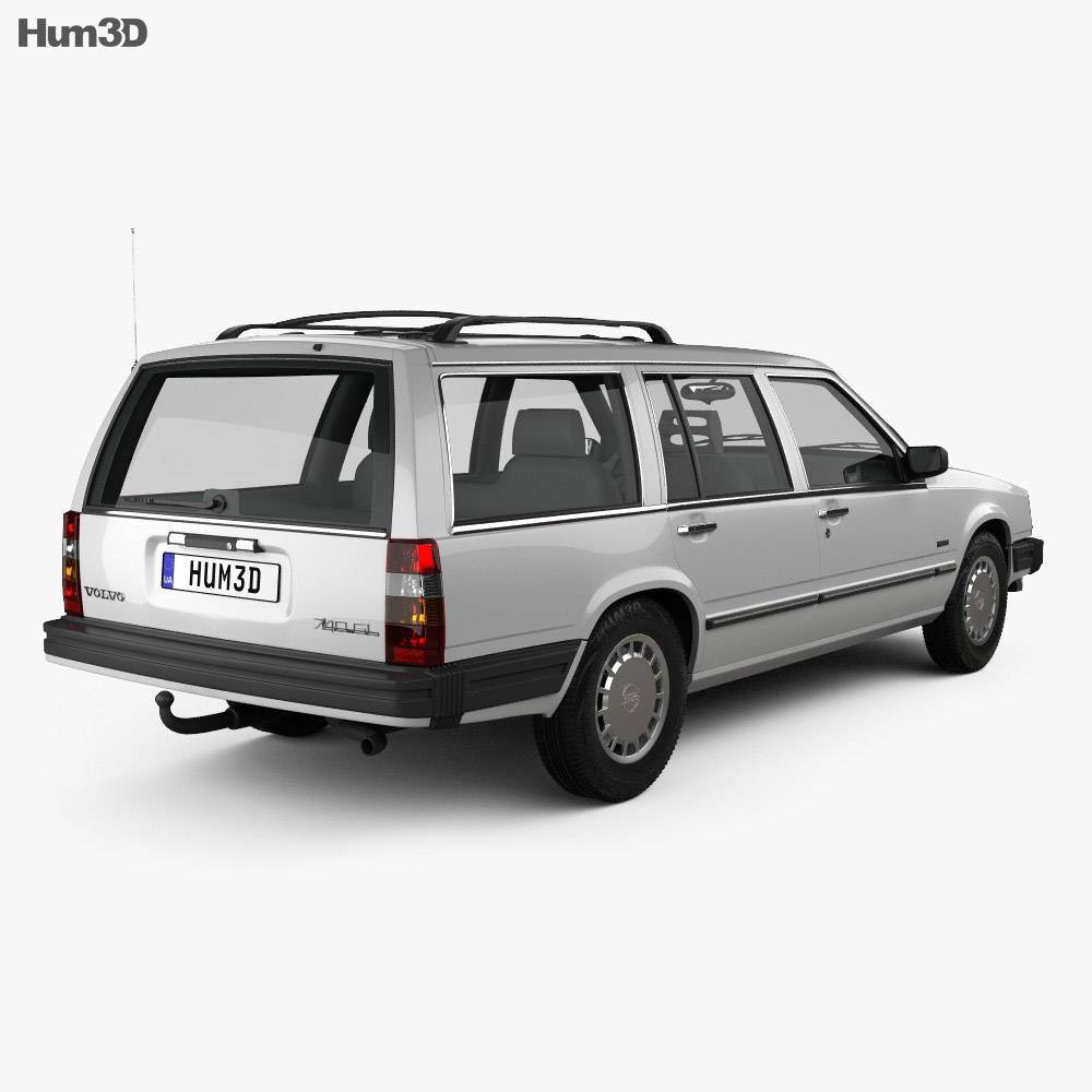 Volvo 745 kombi 1985 US 3d model