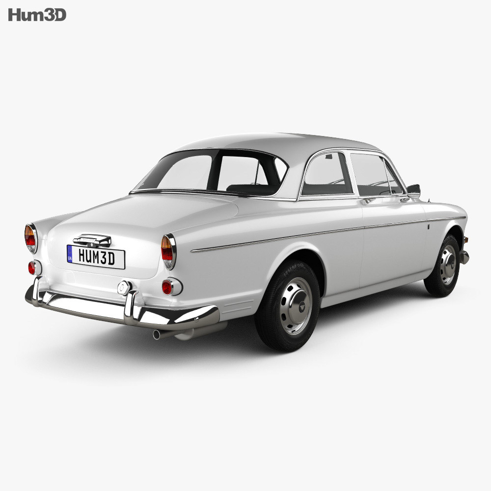 Volvo Amazon coupe 1961 3d model back view