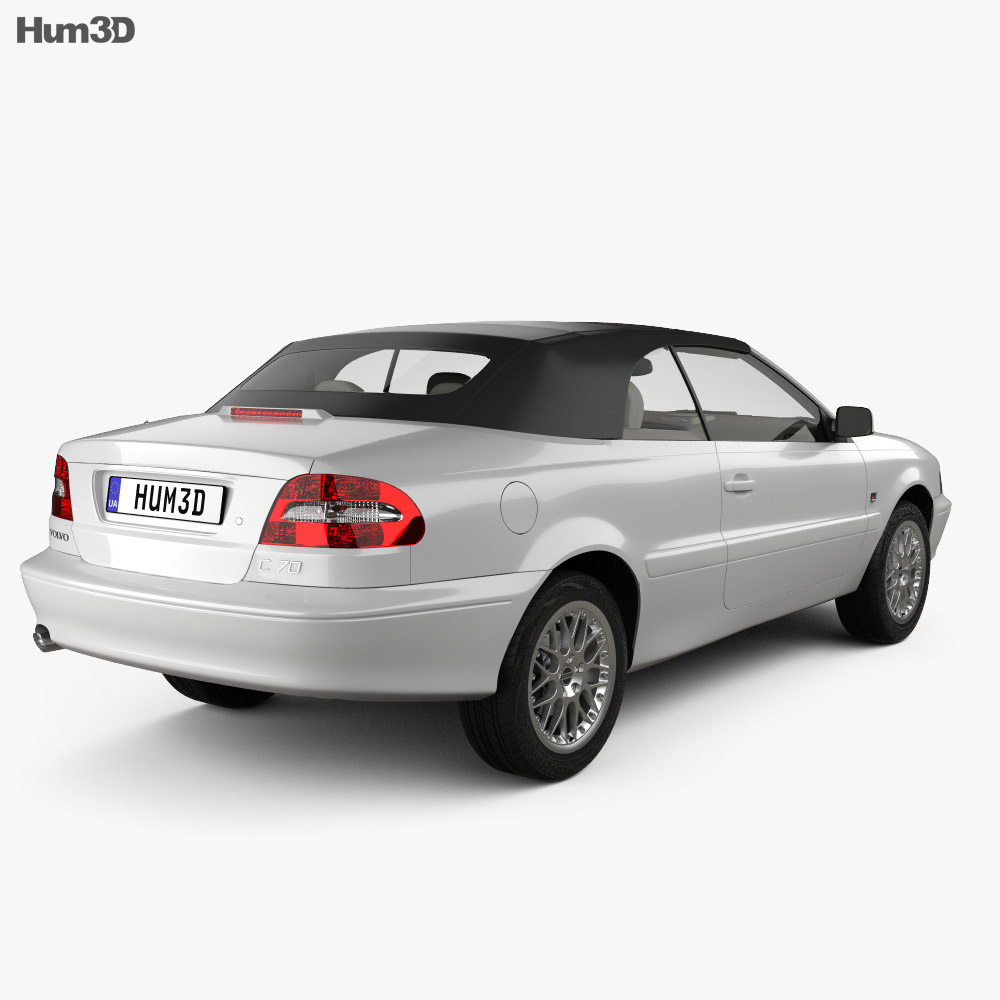 Volvo C70 convertible with HQ interior 1999 3d model