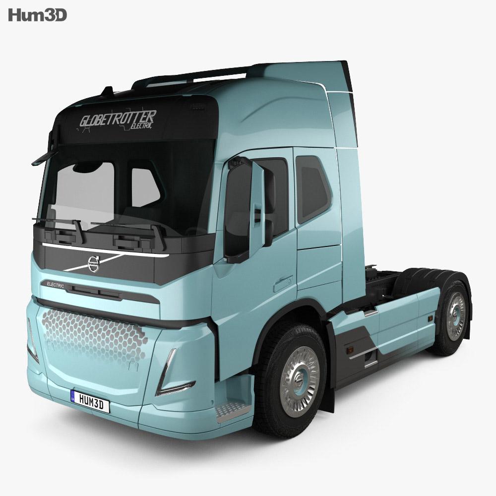 Volvo Electric Camion Trattore 2019 Modello 3D