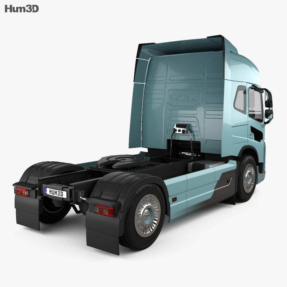 Volvo Electric Camion Trattore 2019 Modello 3D vista posteriore