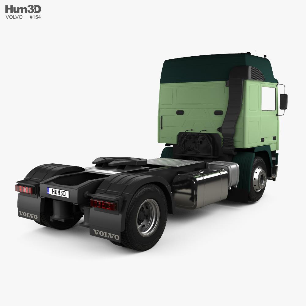 Volvo F10 Tractor Truck 1987 3d model