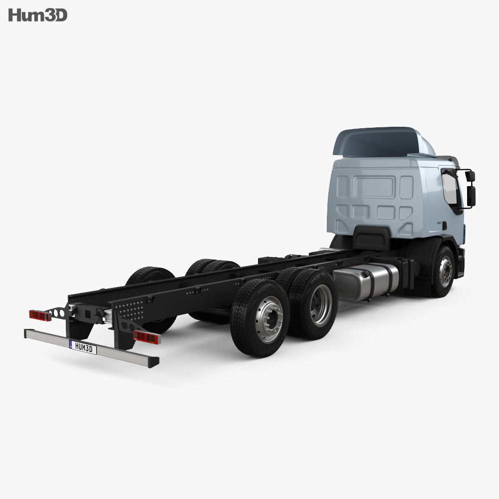 Volvo FE Chassis Truck 2006 3d model back view
