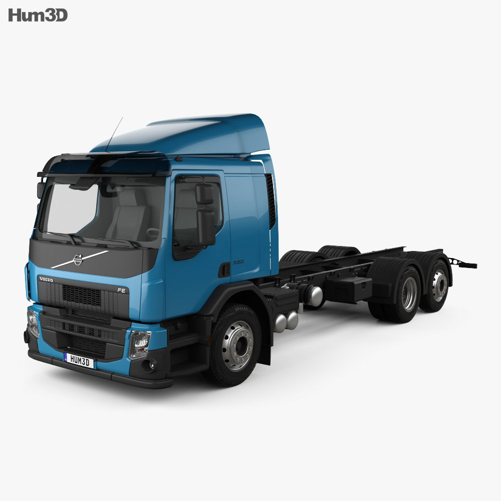 Volvo FE Chassis Truck 2013 3d model