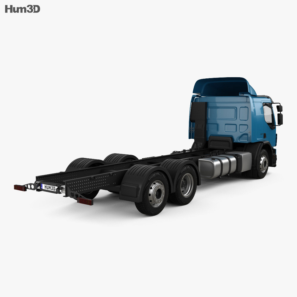 Volvo FE Chassis Truck 2013 3d model back view