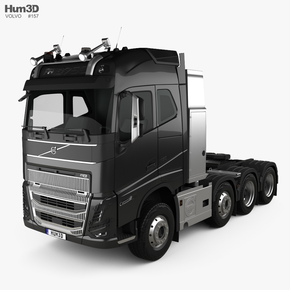 Volvo FH16 Globetrotter Cab Tractor Truck 4-axle 2020 3d model