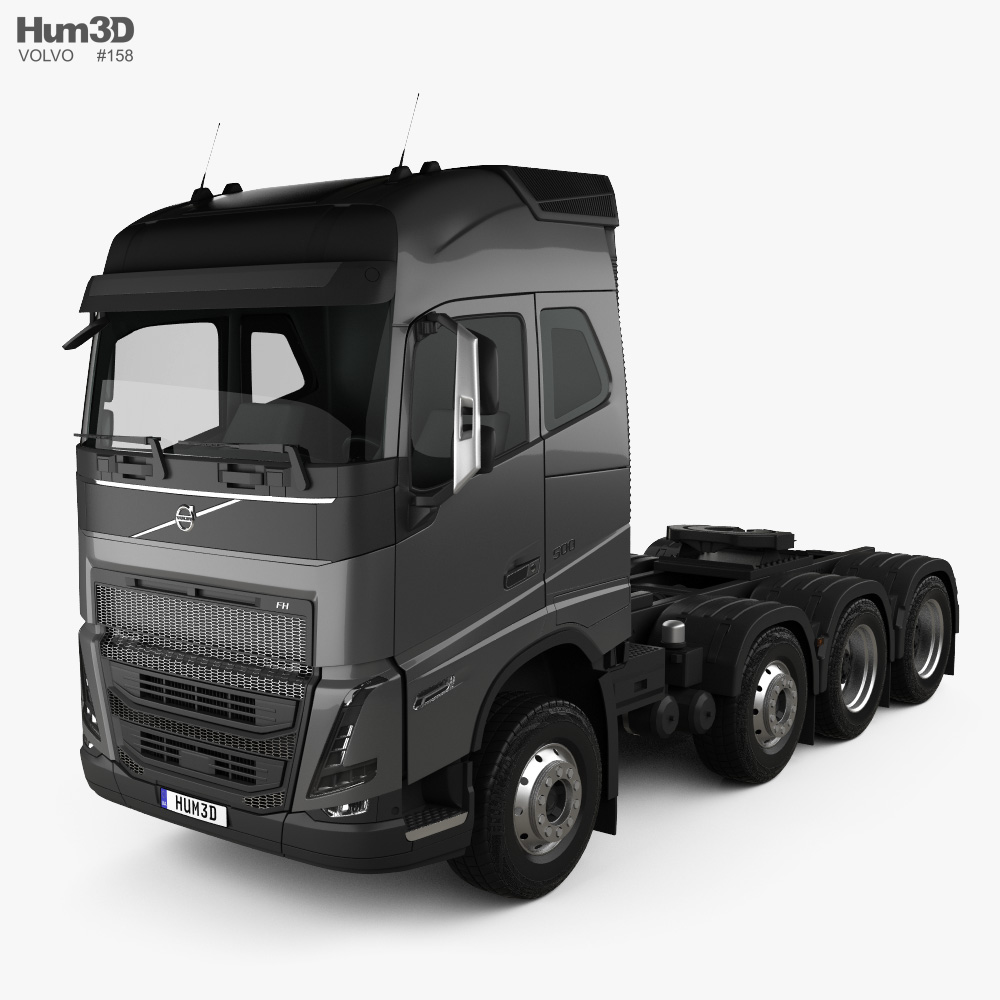 Volvo FH Globetrotter Cab Tractor Truck 4-axle 2020 3d model