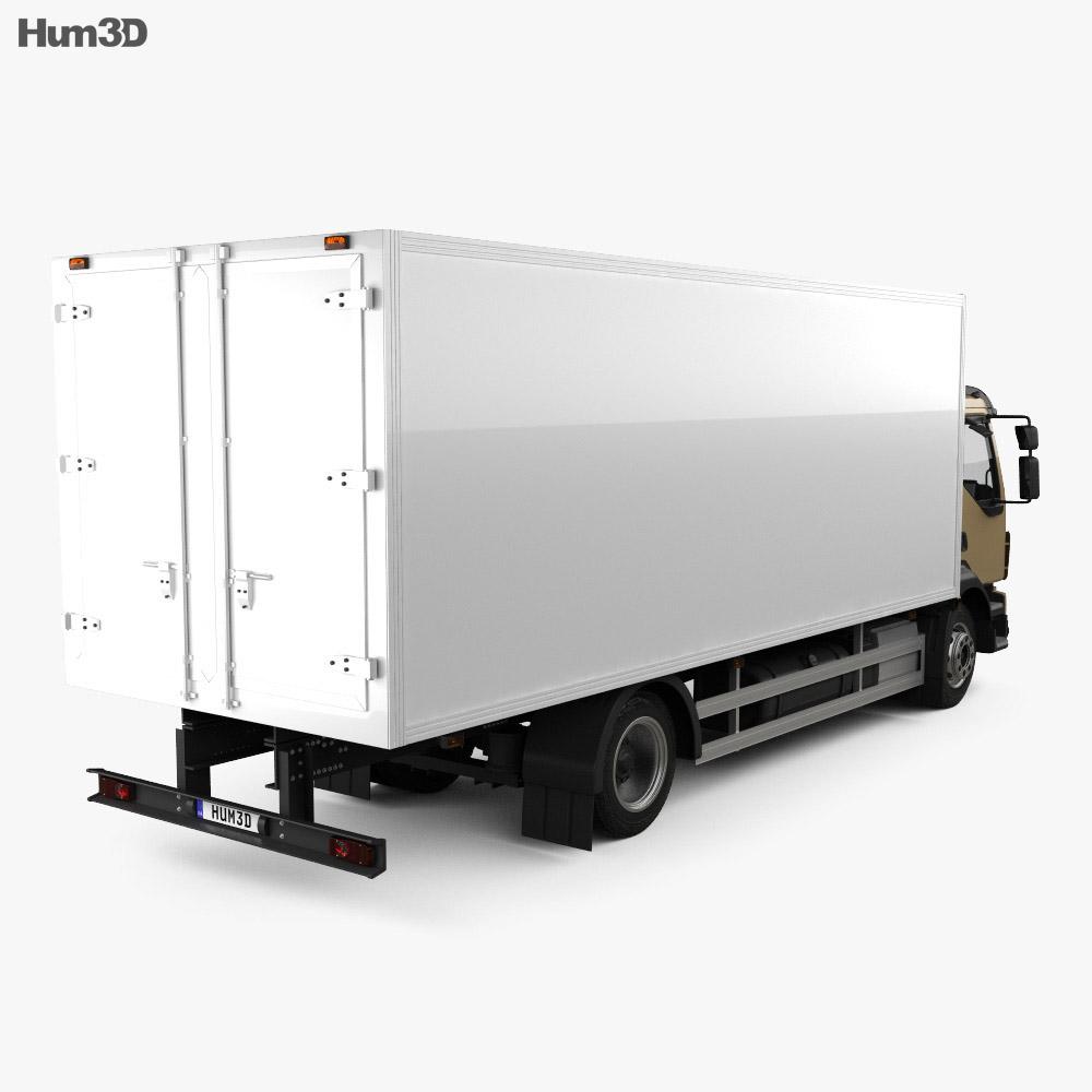 Volvo FL Box Truck with HQ interior 2013 3d model