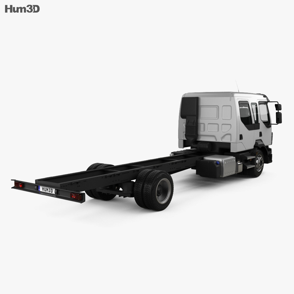 Volvo FL Crew Cab Chassis Truck 2013 3d model