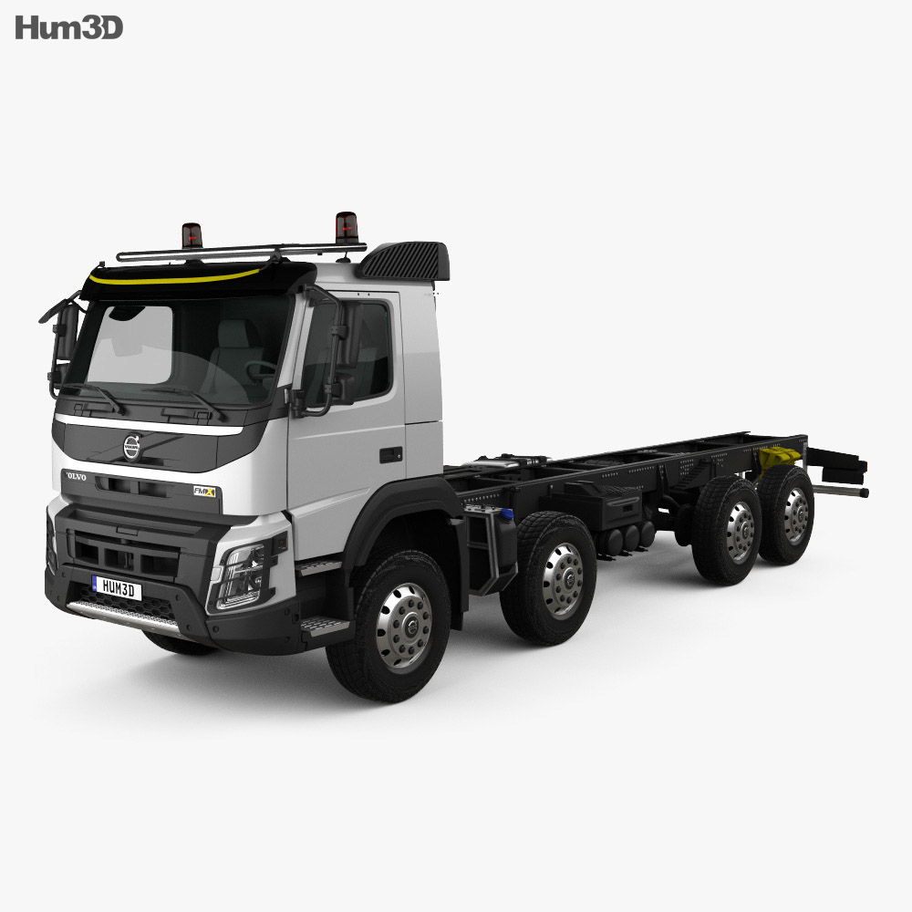 Volvo FMX Chassis Truck 4-axle 2013 3d model