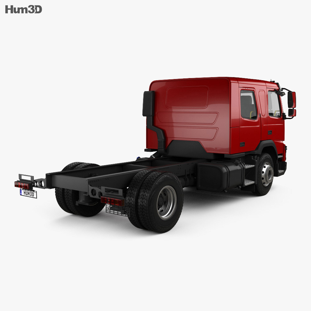 Volvo FMX Crew Cab Chassis Truck 2014 3d model