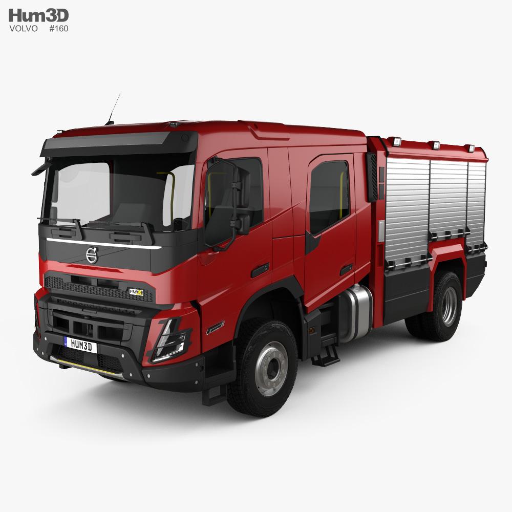 Volvo FMX Crew Cab Fire Truck 2020 3d model