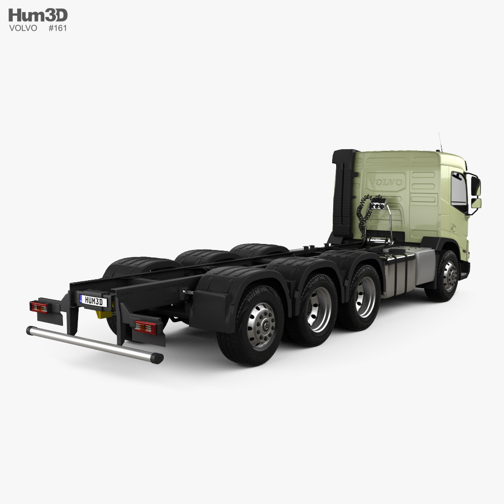 Volvo FMX Day Cab Chassis Truck 4-axle 2020 3d model