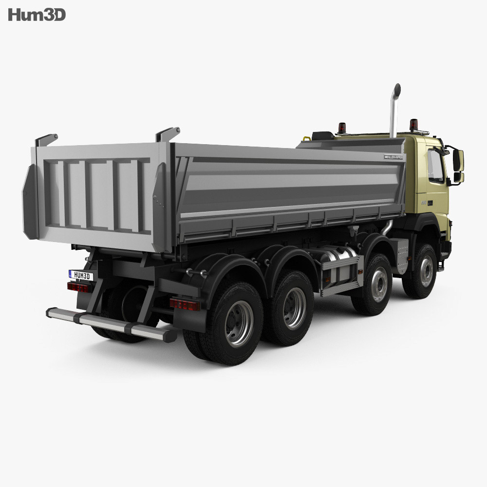 Volvo FMX Tipper Truck 2013 3d model