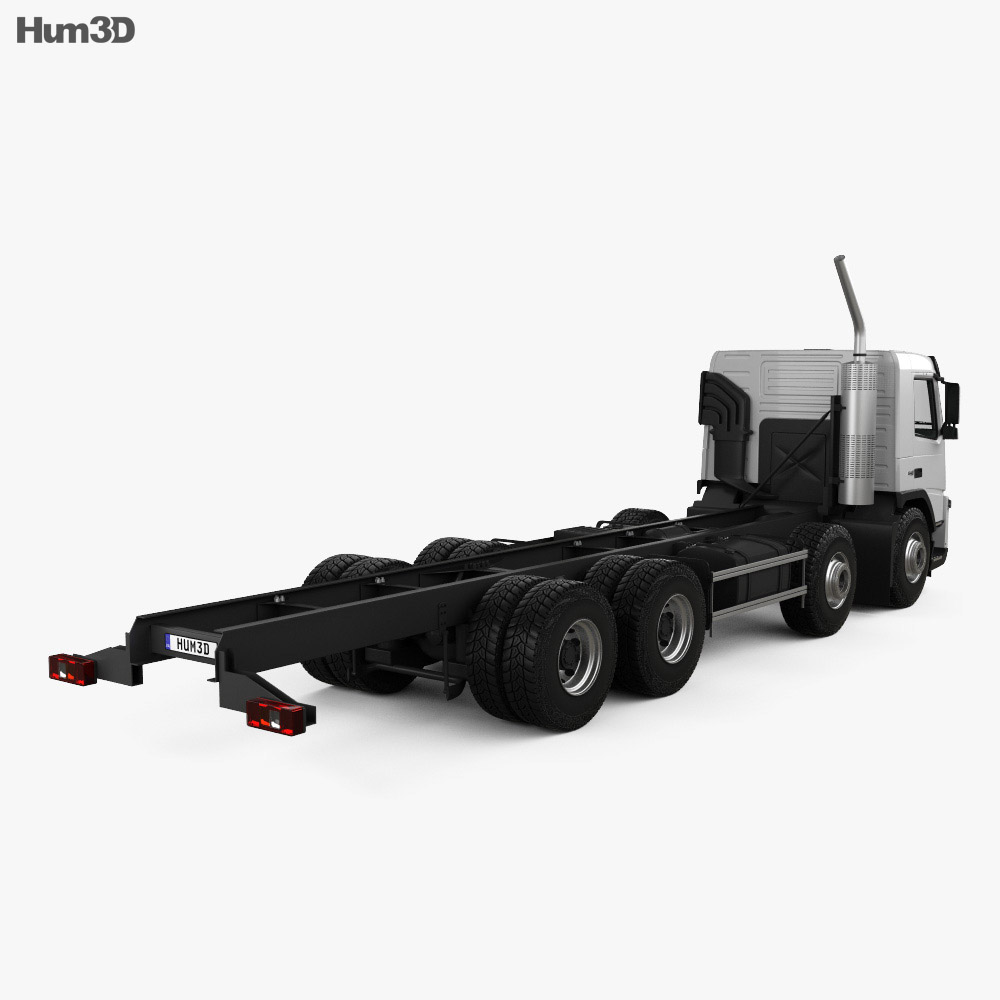Volvo FM Chassis Truck 4-axle 2010 3d model