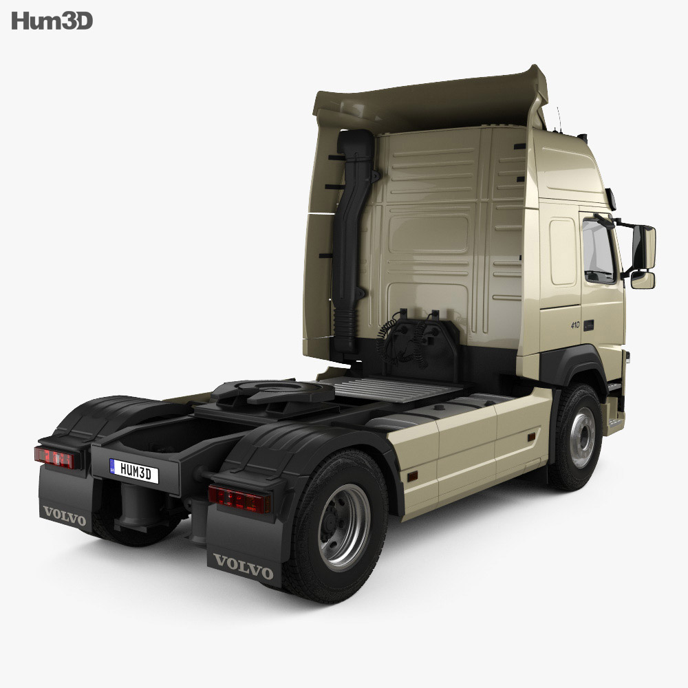 Volvo FM 410 Tractor Truck 2013 3d model