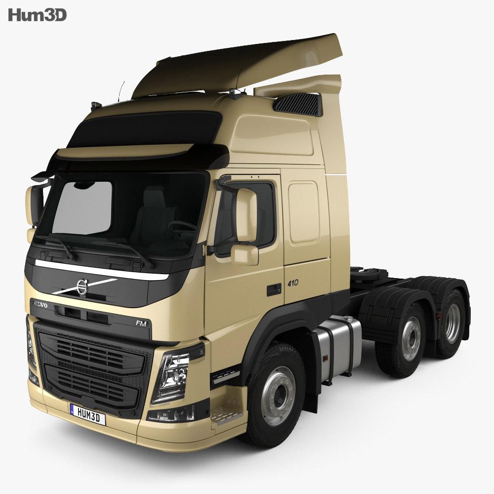 Volvo FM 460 Tractor Truck 2013 3d model