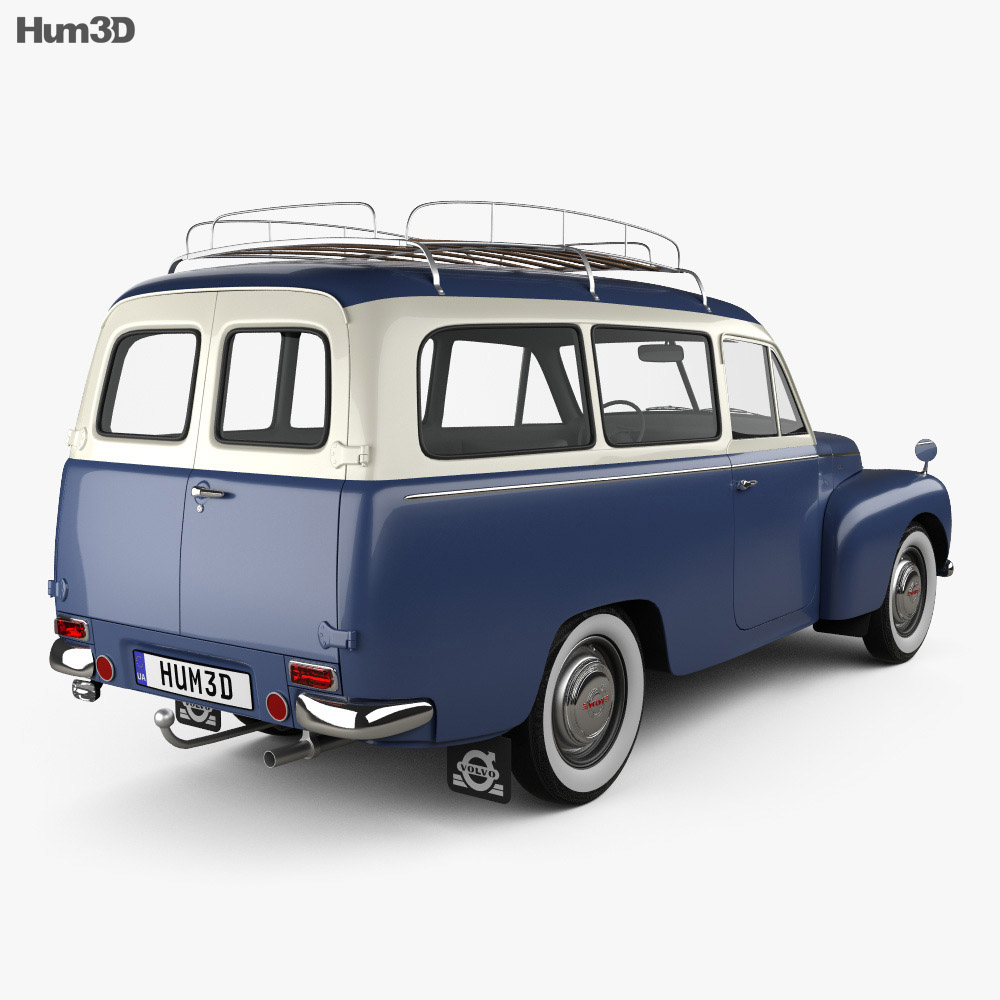 Volvo PV445 PH Duett 1958 3d model