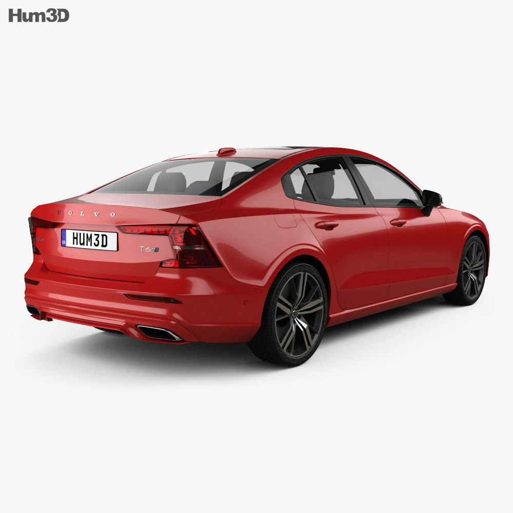 Volvo S60 T6 R-Design 2019 3d model back view