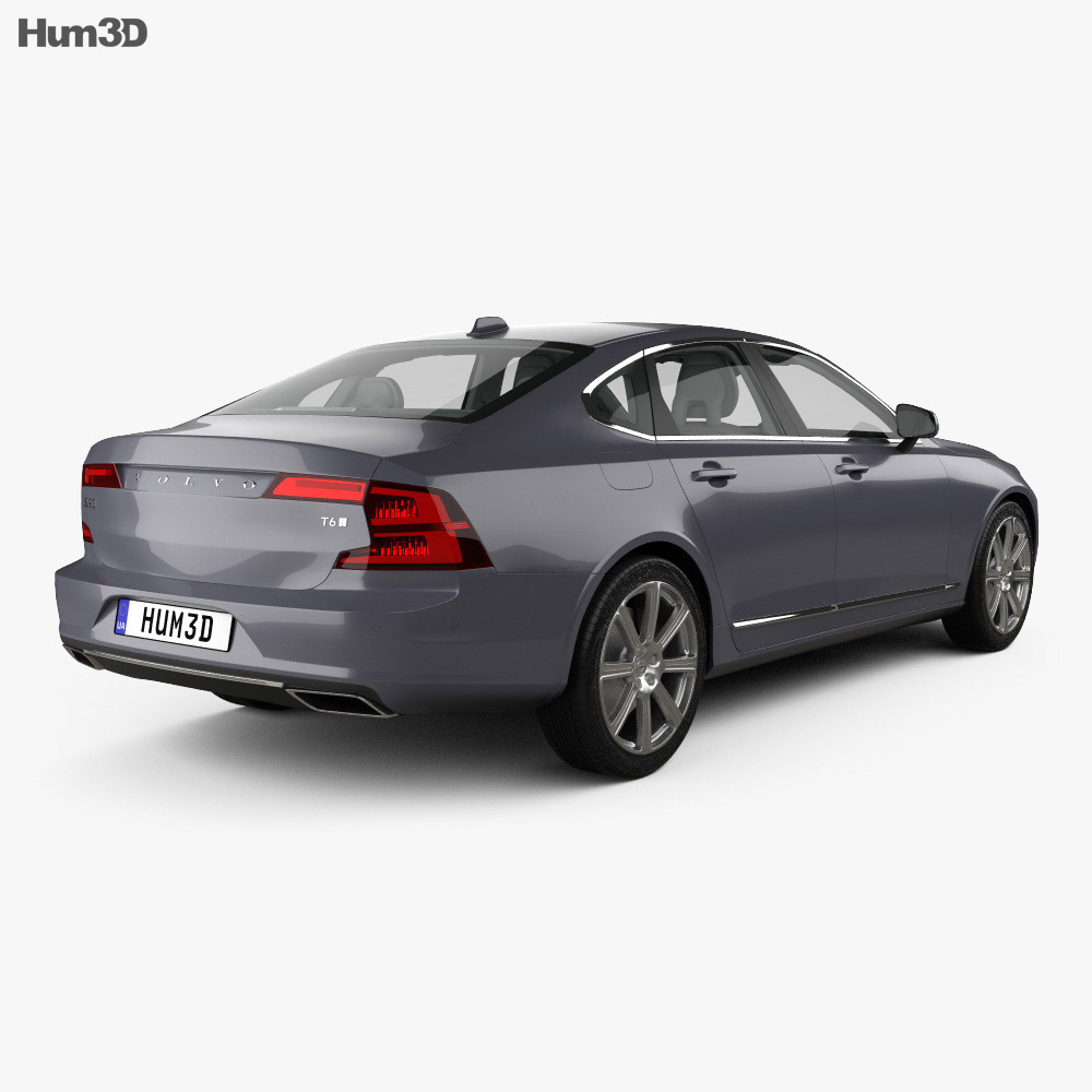 Volvo S90 with HQ interior 2017 3d model