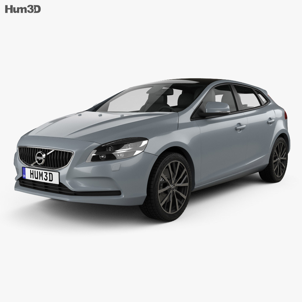 volvo v40 t4 momentum 2016 3d model hum3d. Black Bedroom Furniture Sets. Home Design Ideas