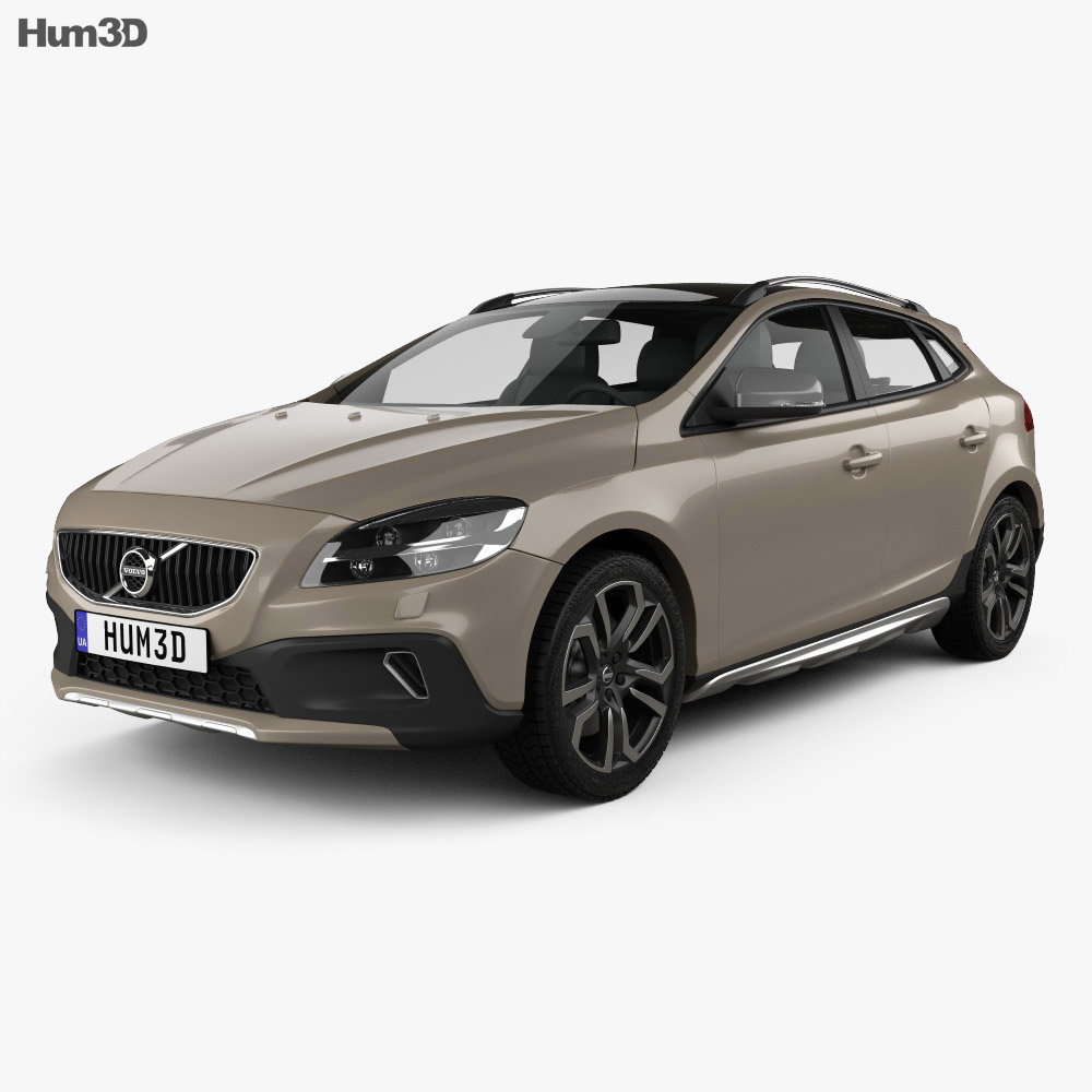volvo v40 t5 cross country 2016 3d model hum3d. Black Bedroom Furniture Sets. Home Design Ideas
