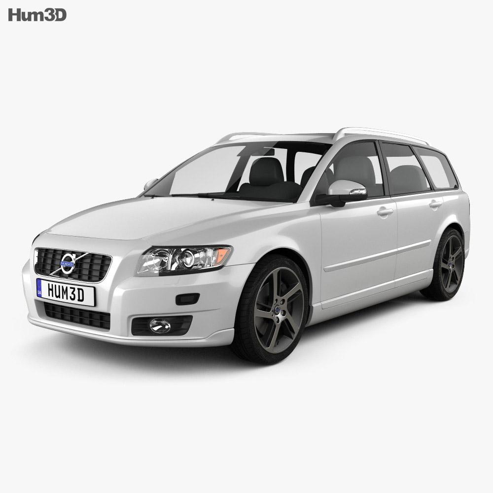 Volvo V50 Clic 2011 3D model - Hum3D