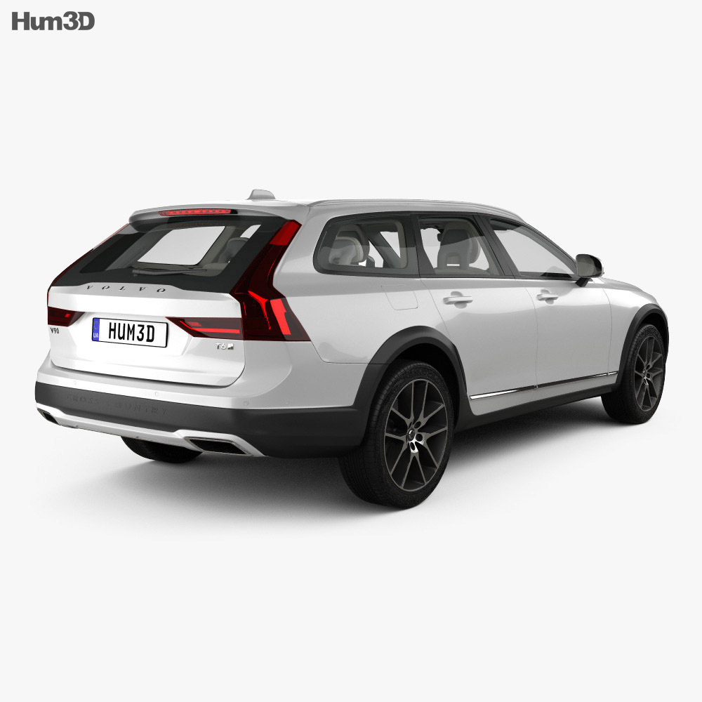 Volvo V90 T6 Cross Country with HQ interior 2016 3d model
