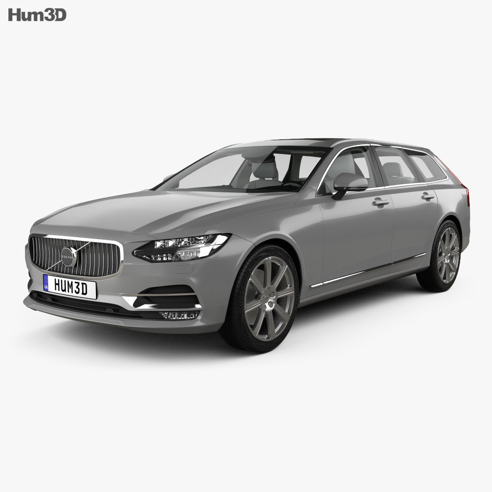 Volvo V90 T6 Inscription with HQ interior 2016 3d model