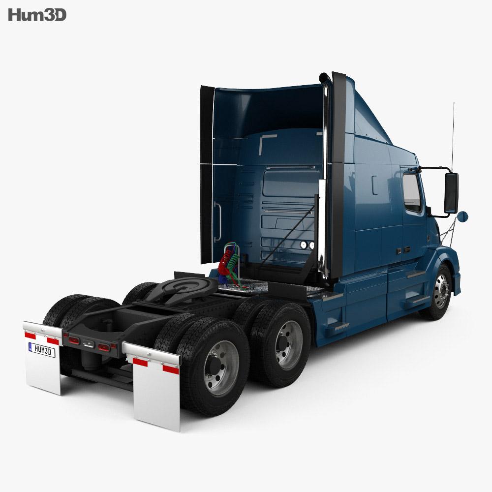 Volvo VAH (630) Tractor Truck 2012 3d model