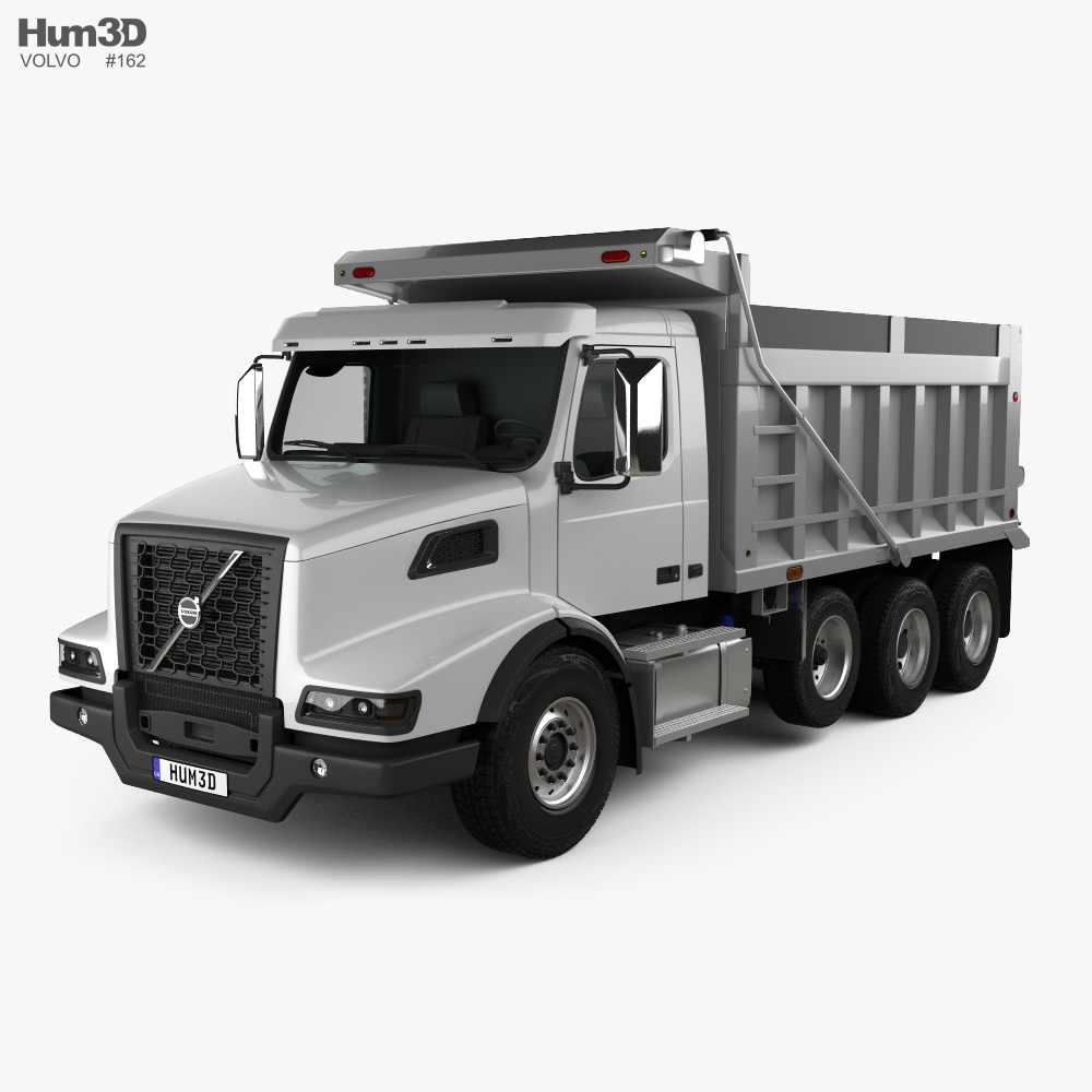 Volvo VHD Dump Truck 4-axle 2020 3d model