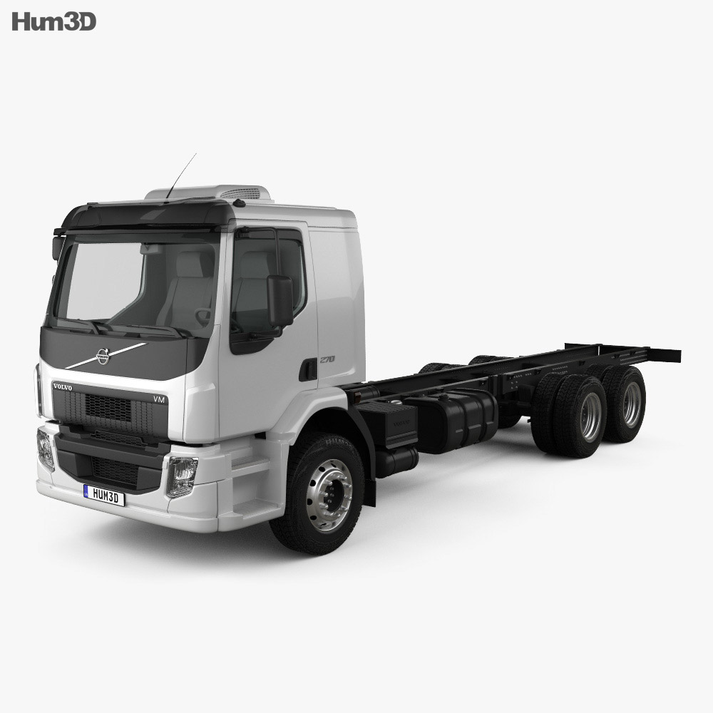 Volvo VM 270 Chassis Truck 3-axle 2014 3d model