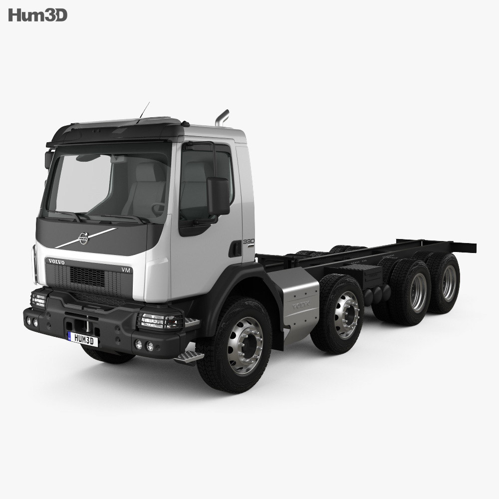 Volvo VM 270 Chassis Truck 4-axle 2014 3d model