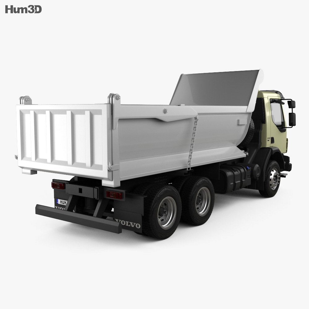 Volvo VM 330 Tipper Truck 3-axle 2014 3d model