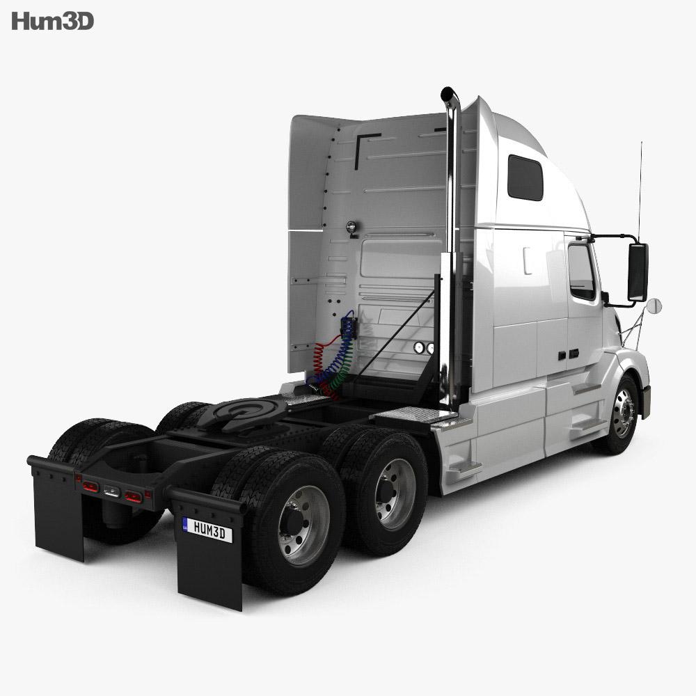 Volvo VNL (670) Tractor Truck 2011 3d model