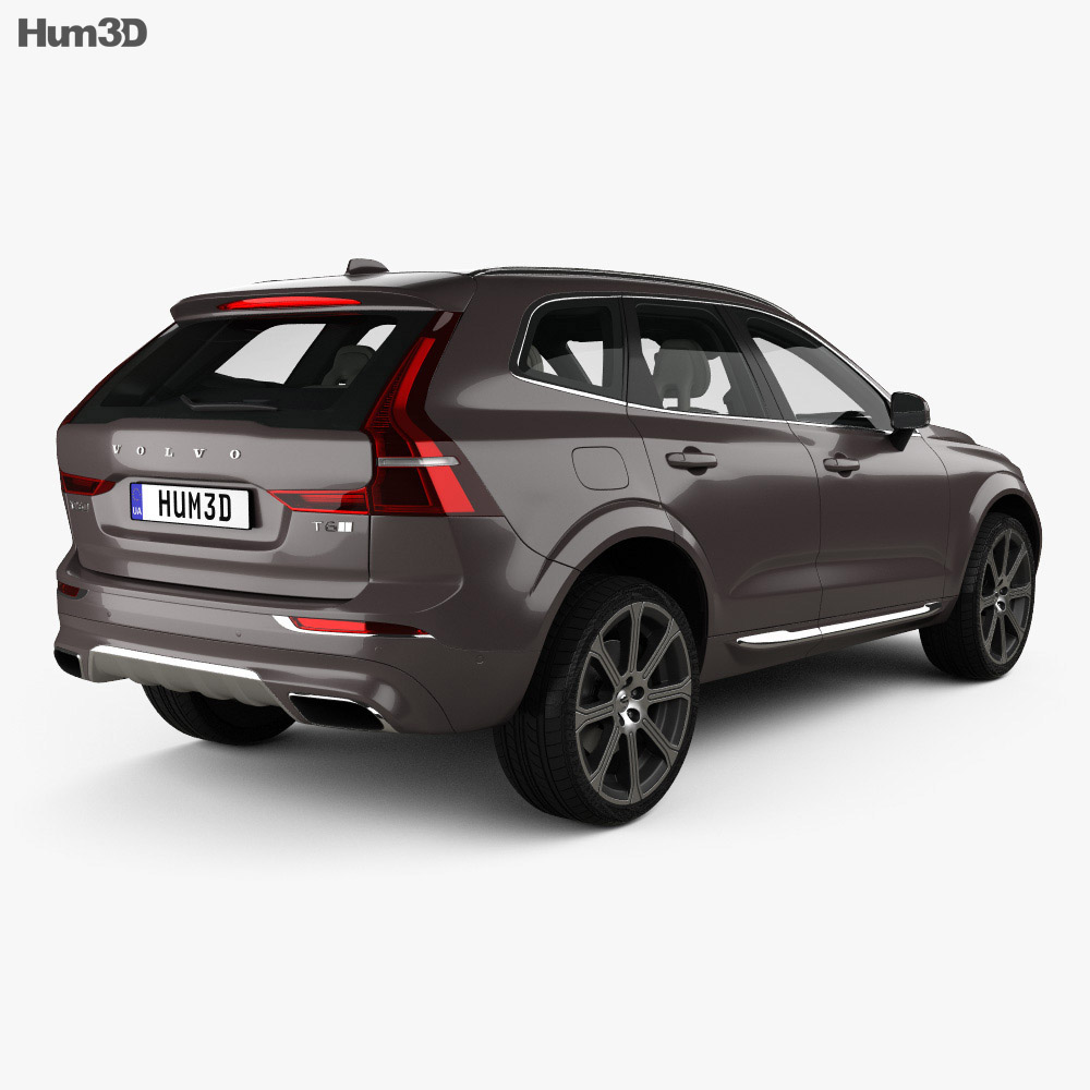 volvo xc60 t6 inscription with hq interior 2017 3d model. Black Bedroom Furniture Sets. Home Design Ideas