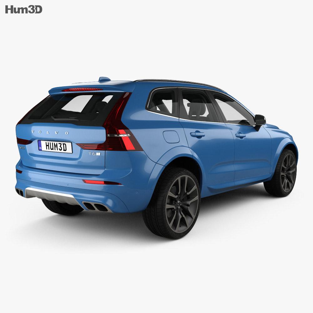 Volvo XC60 T6 R-Design with HQ interior 2017 3d model