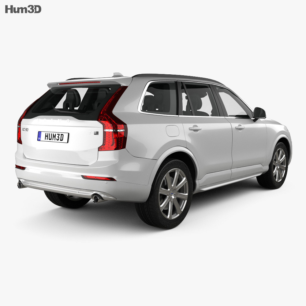 Volvo XC90 T8 with HQ interior and Engine 2015 3d model