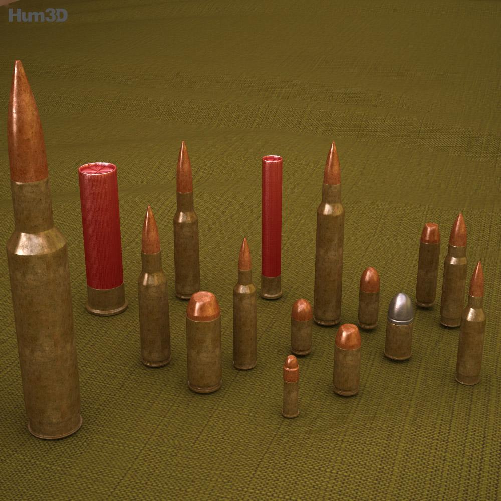 Cartridges (Bullets) 3d model