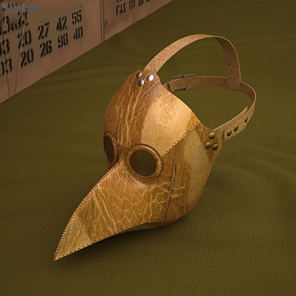Black Plague Doctor Mask 3d model