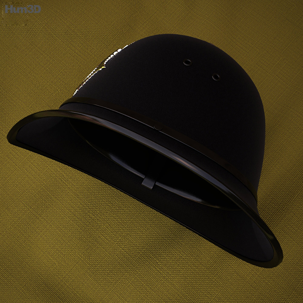 London Metropolitan Police Custodian Helmet 3d model