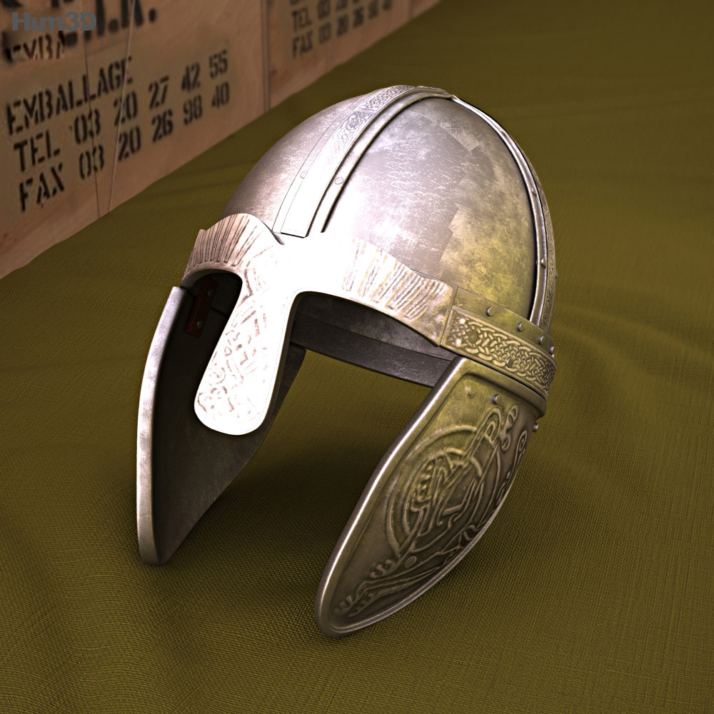 Embossed Viking Helmet 3d model