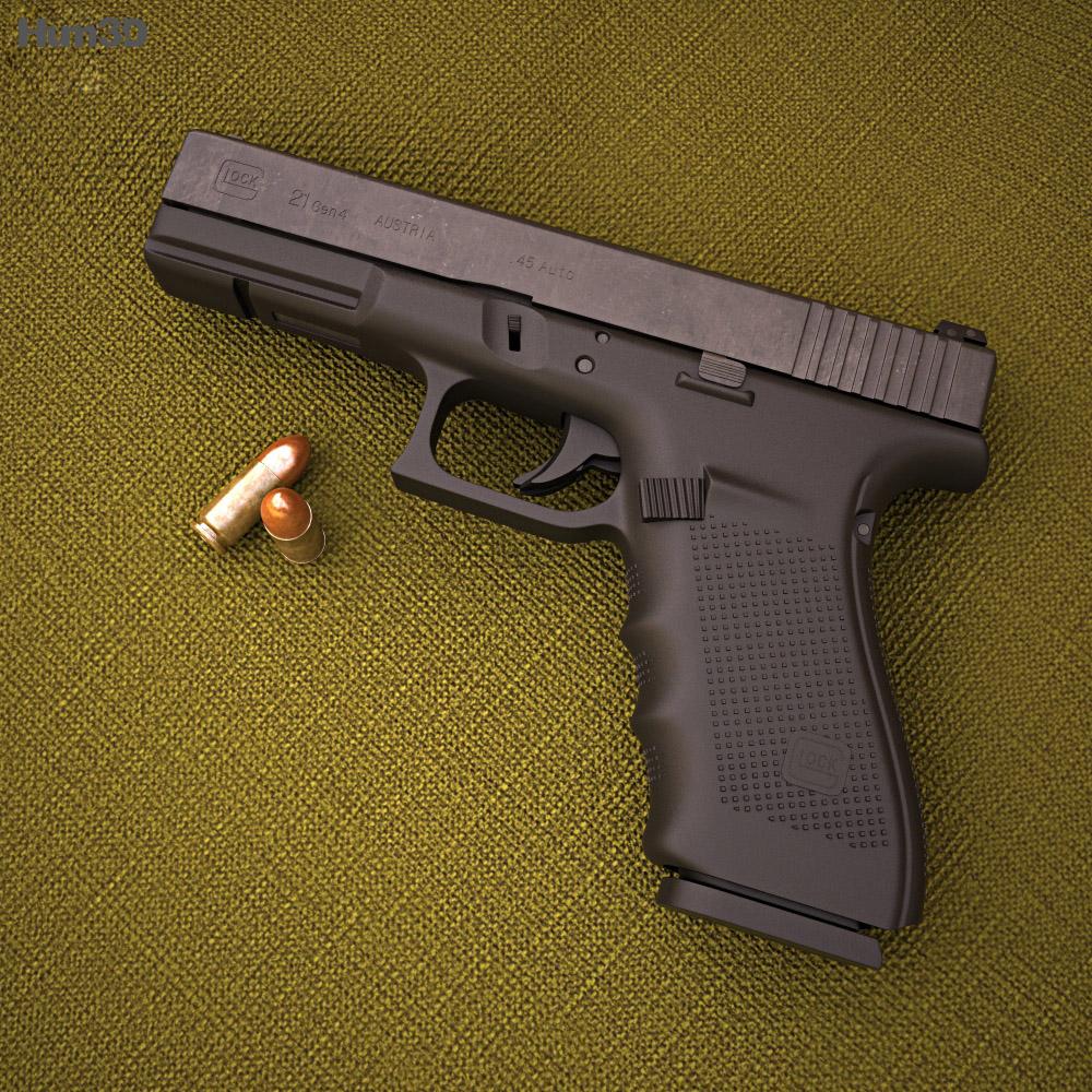 3D model of Glock 21 Gen4