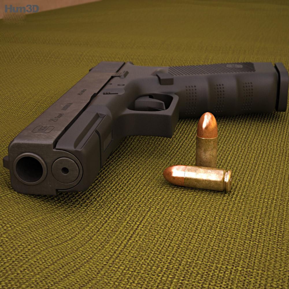 Glock 21 Gen4 3d model
