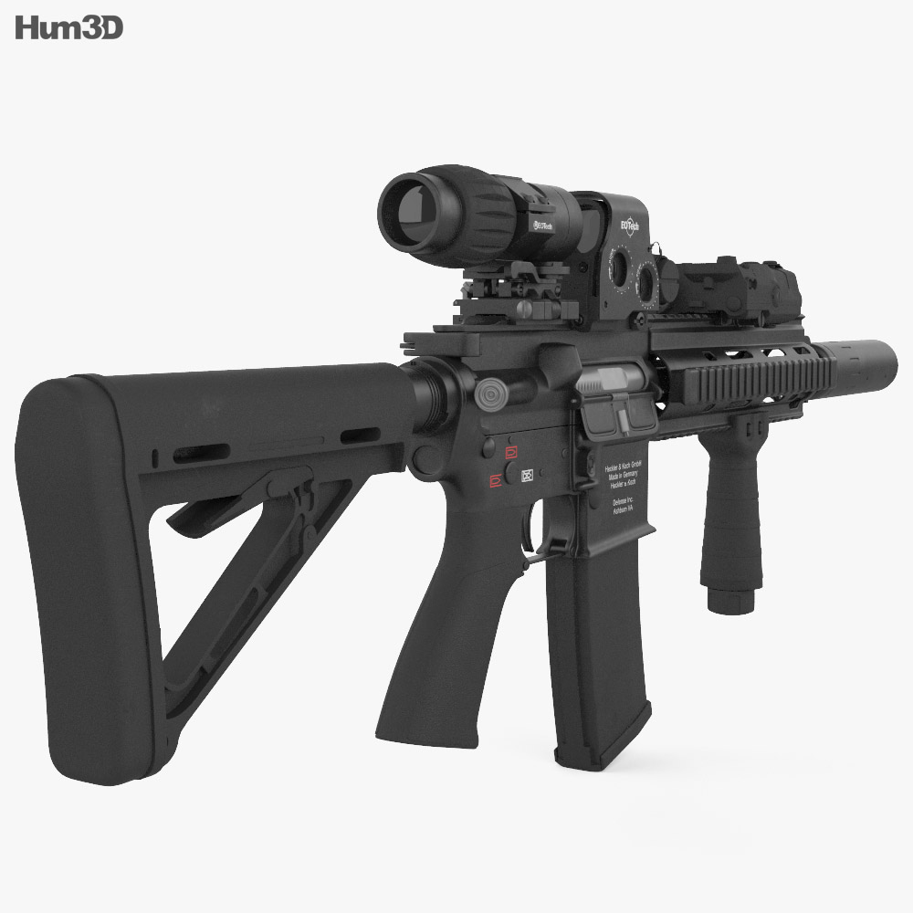 Heckler & Koch 416D 3D Model