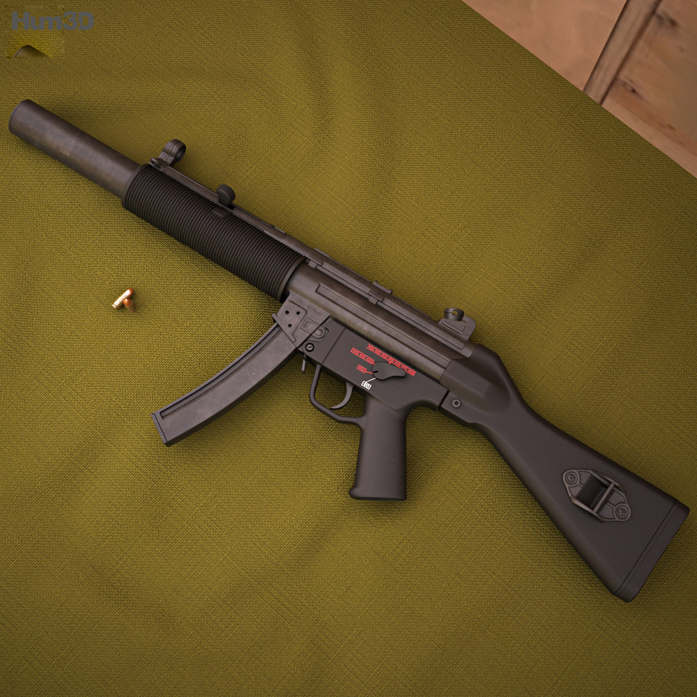Heckler & Koch MP5SD 3d model