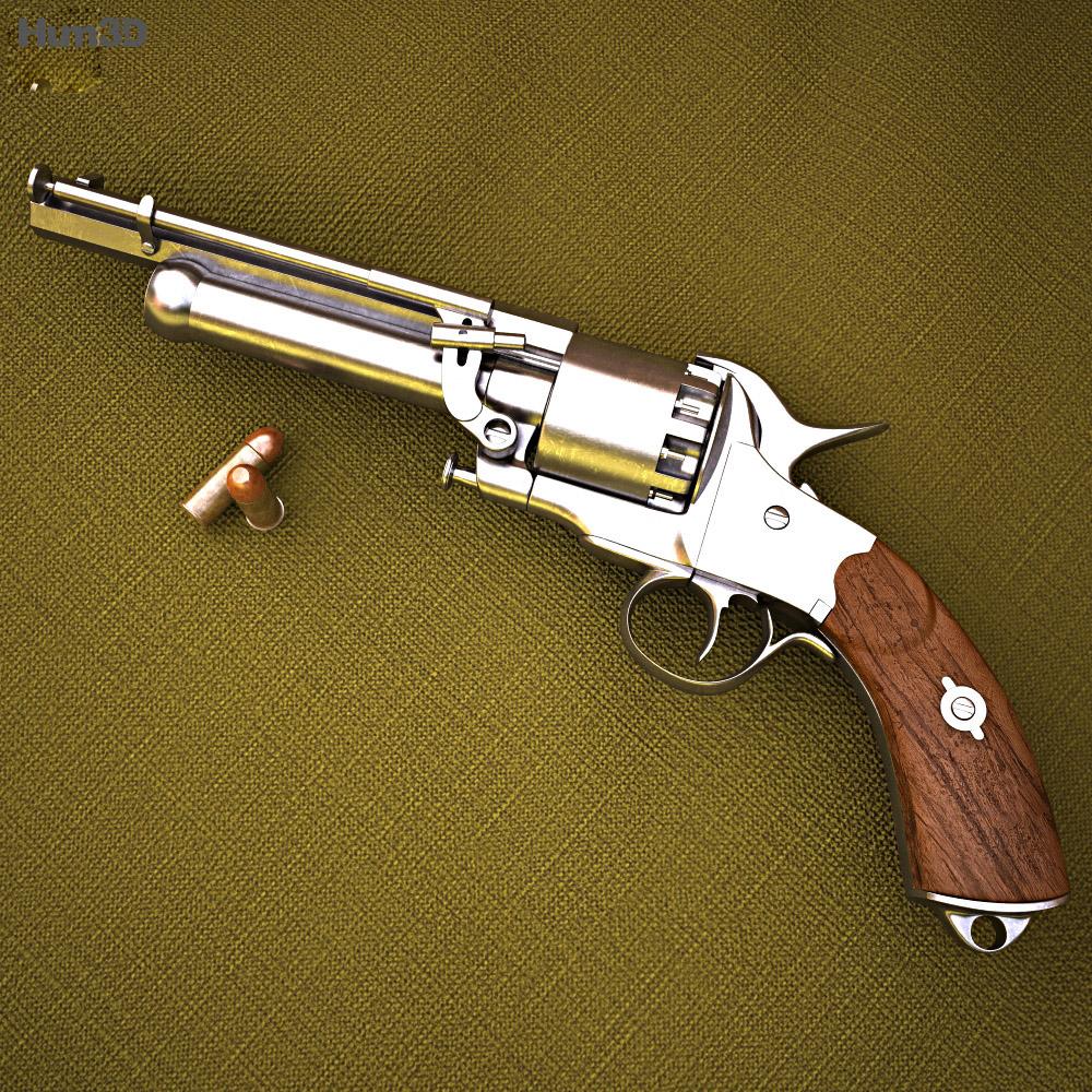 Lemat Revolver 3d Model Weapon On Hum3d