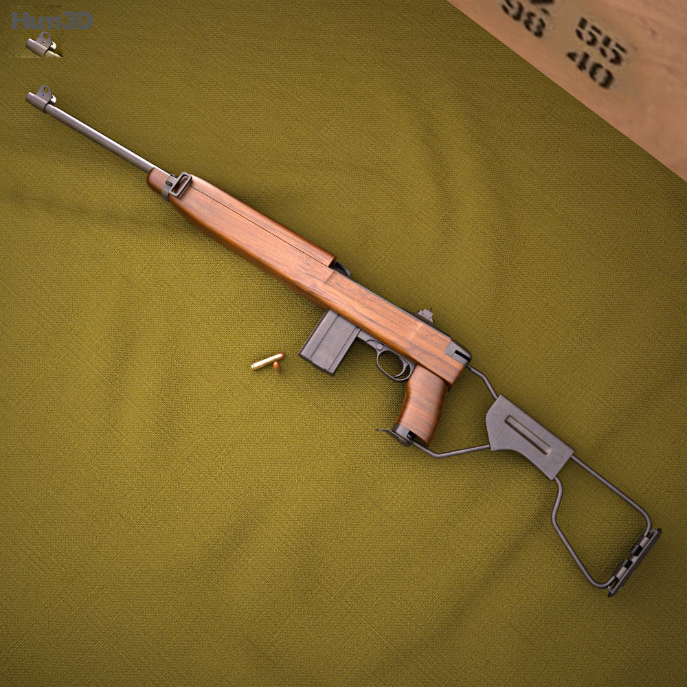 3D model of Inland M1A1 Carbine